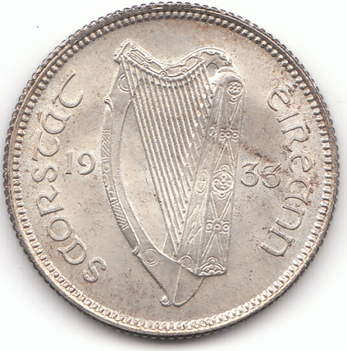 1933 Shilling Choice Unc