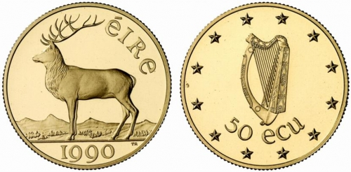 Ireland 50 Ecu Gold Proof 1990