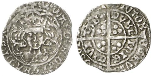Edward IV Light Cross & Pellets Silver Groat