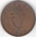 1813 Ceylon Ireland Mule Penny