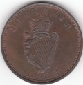 1822 Narrow Harp Proof Pattern Penny