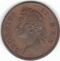 1736 Superb Copper Proof Halfpenny