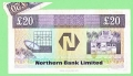 1992 Northern Bank Ltd. 20 Pound Foldout Error 30 March 1992