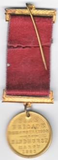 Fire Brigade Award Sandhurst Victoria Australia 1886