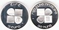 2007 Ireland & Croatia 2 Coin Ivan Mestrovic Silver Proof Set