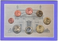2003 Ireland Official Annual 8 Piece Coin Set