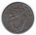 1753 Nine String Halfpenny Extremely Fine