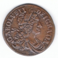 1681 Twelve String Halfpenny Extremely Fine
