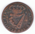 1682 Small Letters Halfpenny, 13 String Harp