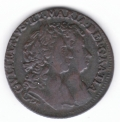 Excellent 1692 Halfpenny of 15 Strings