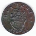 1742 Halfpenny About Uncirculated