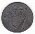 Scarce 1747 Halfpenny