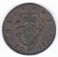 Very Fine 1781 Halfpenny ex Dudley Westrop
