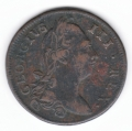 Circulated 1775 Halfpenny ex Dudley Westrop
