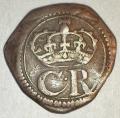 Silver Ormonde 3 Pence Pellet bet C R, massive D/III