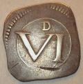Silver Ormonde 6 Pence DF 302 Plate Coin no pellet