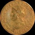 Nero Sestertius w Annona and Ceres reverse.