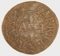Carrickfergus, Co. Antrim  Anthony Hall c.1656 token