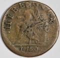 1760 VOOE Populi copper halfpenny