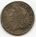 Silver Gunmoney Small Halfcrown May 1690