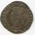 England Elizabeth I Silver 3 Pence 1573 unlisted rev die