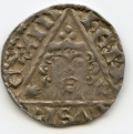 Henry III late Silver Penny S.6242 Ricard c.1253 with 3 curls to either side of head