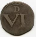 Ormonde Silver Six Pence no obv pellet, large D