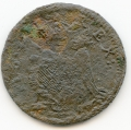St. Patrick farthing excavated state