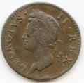 George II, 1749 Halfpenny