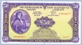 Lady Lavery 50 pound 4 - 4 - 77 Fully embossed AU Unc