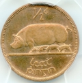 Gem Proof Halfpenny 1940 Excessively Rare