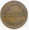 Scotland/Canada 1828 Commerce Farthing Brockage Rarity from the Cokayne Collection