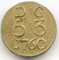 James Warren Irish Coin Weight for Guinea