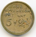 Sam Gatchell Irish Coin Weight for Sovereign