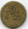 Irish 1760 Coin Weight for Moidor