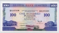 Northern Ireland Ulster Bank 100 pounds 1 Dec 1990 PMG 64 EPQ