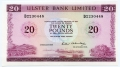 Ulster Bank Limited Twenty Pound 1 Feb 1988