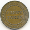 Barnsley, Jackson & Lister Penny Token from the Cokayne Collection