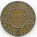 Rose Copper Company 1811 Penny Token ex Cokayne Collection