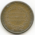 Walthamstow British Copper Company 1812 Plain Edge Penny Token ex Cokayne Collection