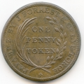 Lye Worcestershire J. Forrest & Co. Forge 1811 Copper Penny Token ex Cokayne Collection