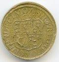 Irish 1737 Brass Coin Weight for Dobra of 8 Escudos
