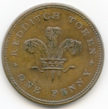 Redditch Worcestershire Bartleet & Hemming 1813 One Penny Token ex Cokayne Collection